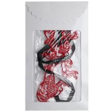 Маска «Бабочка», кружево, красная  P3289R